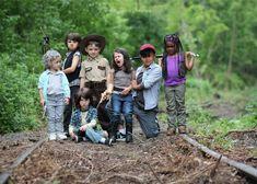 Una fotógrafa recrea las mejores escenas de 'The Walking Dead' con niños de 7 años