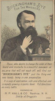 Buckingham's Dye For the Whiskers https://flic.kr/p/5HiL6B | R.P. Hall & Co. (Proprietors) | Persistent URL: digital.lib.muohio.edu/u?/tradecards,2474         Subject (TGM): Men; Beards; Hair preparations; Patent medicines; Pride; Pharmacists; Drugstores; Cosmetics & soap; Cosmetics industry;