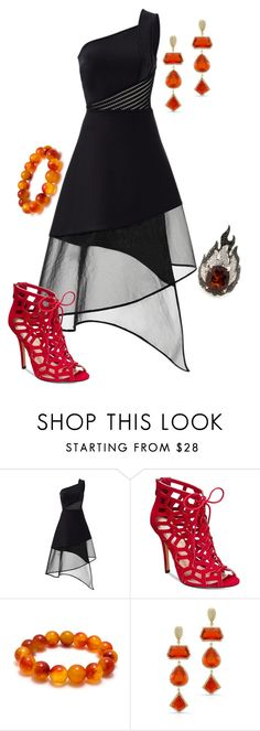 """""""District 12: Mining"""" by madalynkw on Polyvore featuring David Koma, Chelsea & Zoe, Anne Sisteron and Garrard"""