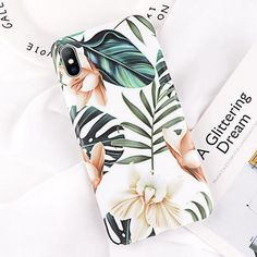 Cartoon Pineapple Flower Leaf Pattern Case For iPhone