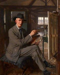 Self Portrait, 1933 by Frederick Elwell (1870-1958)
