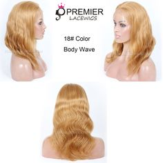 18# color ,14inches ,body wave ,Brazilian virgin hair glueless full lace wig http://www.premierlacewigs.com/brazilian-virgin-hair-body-wave-glueless-full-lace-wigs.html