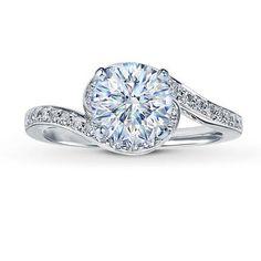 ($3,028)  http://design.kay-diamonds.com/#        14K White Gold ¼ Carat t.w. Diamond Ring Setting.        Towlkowski 0.31 Carat H-VS2 Ideal Cut Round Diamond