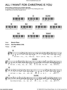all i want for christmas is you sheet music guitar chords by - All I Want For Christmas Guitar Chords