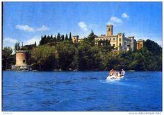 Perugia - Isola maggio - lago trasimeno - castello guglielmi visto dal lago - perugia - 2 - formato grande viaggiata