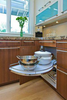 armario esquina cocina encimera granito moderna ideas