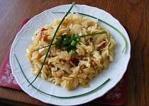 Těstoviny se zelím a anglickou slaninou Risotto, Meat, Chicken, Ethnic Recipes, Food, Bulgur, Essen, Meals, Yemek