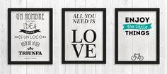 Escribe en las paredes - Las Truquideas de Nuria Frases Retro, All You Need Is, Photo Wall, Notes, Letters, The Originals, Home Decor, Google, Decoration