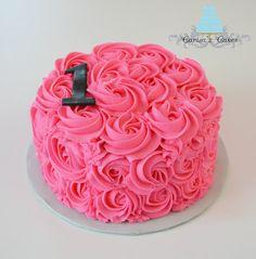 Carisa's Cakes: Rose swirl smash cake