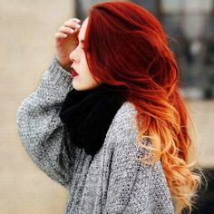 20 ideas for red ombre hair. List of red ombre hair colors. Red ombre hair color ideas for a bold new look. Cheveux Oranges, Fire Hair, Red Hair Color, Red Orange Hair, Red Hombre Hair, Red Colored Hair, Pretty Hair Color, Bright Red Hair, Teal Hair