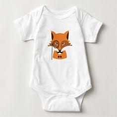 Orange Fox Baby Bodysuit - diy cyo customize create your own personalize
