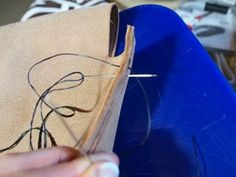 Leather Tote - DIY : 7 Steps (with Pictures) - Instructables Diy Leather Tote, Leather Store, Sewing Leather, Leather Craft, Leather Bags, Punch Tool, Diy Tote Bag, Photo Tutorial