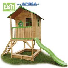 Exit Spielhaus Loft 500 Stelzenhaus von APESA. Info: Exit Spielhaus Loft 500 Stelzenhaus Indiana Jones, Loft, Play Houses, Cool Kids, Park, Cool Stuff, Garden, Decorating, Cabin