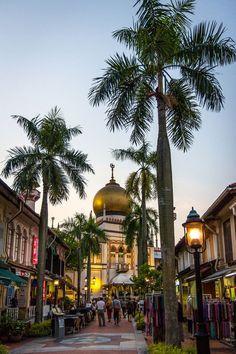 Evening lights on Arab Street / Singapore (by Meng Foo).