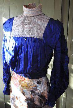 Agnes... Antique c. 1904 Edwardian shirtwaist , as is