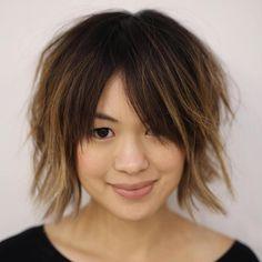 Short Choppy Haircut With Bangs
