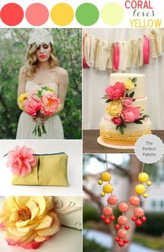 coral loves yellow via the perfect palette