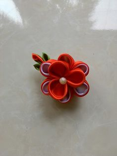 Kanzashi flower brooch Kanzashi Flowers, Flower Brooch, Floral, Jewelry, Jewlery, Jewerly, Flowers, Schmuck, Jewels