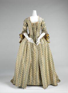 Robe à la Française, silk, French, ca 1760-1770. MET