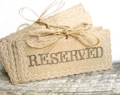 Reserved Wedding Signs - Rustic Weddings - Handmade & Reusable - (PG-1)