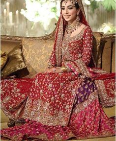 Red lengha Pakistan