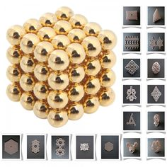 64pcs 5mm Buckyballs Neocube Magic Beads Magnetic Toy Golden.  Check this out at the Tmart link on MomTheShopper.