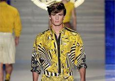 Versace,camicia stampata