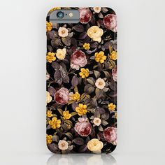 Check out society6curated.com for more! @society6 #floral #flowers #pattern #phone #case #phonecase #accessory #accessories #fashion #style #buy #shop #sale #cool #sweet #rad #awesome #fun #beautiful #beauty #pretty #botanical #iphone #products #product  #botanical #black #yellow #cream #night