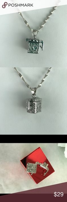Cube/Prayer Box Pendant 925 Cube/Prayer Box Pendant made of 925 sterling silver. 🌸2🌸 Handmade. Chain not included. Jewelry Necklaces
