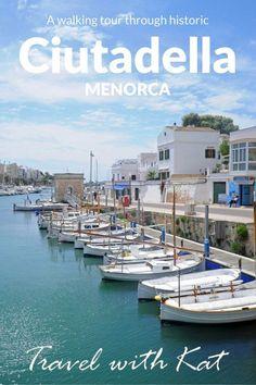 Walking tour through historic Ciutadella, Menorca