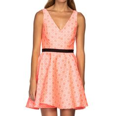Stacie Dress Neon Coral, $130, now featured on Fab.