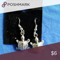 Turtle Earrings Silver color Jewelry Earrings
