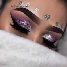 """Purple Ombré @anastasiabeverlyhills Dipbrow in """"ebony"""" @morphebrushes 35P palette  @bulkglitters """"slinky silver"""" """"harpers halo"""" """"purple tears"""" - - - inspo @thecutestberry - iphone7plus for all pictures."""