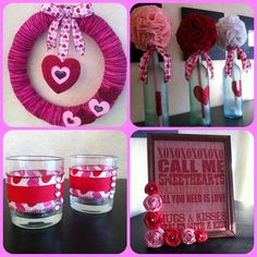 DIY Valentines Decor! Love the jars!