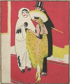 Illustration: Penagos, 1922  (From Spanish satirical magazine Buen Humor)