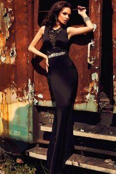 Evening dress accessories home Cheap Dresses Online, Cheap Evening Dresses, Sexy Dresses, Evening Gowns, Fashion Dresses, Atmosphere Fashion, Long Black Evening Dress, Vestidos Sexy, Dress Images