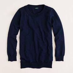 100% merino wool navy sweater