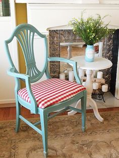 A Little Painted Chair Makeover  with chalk paint and buffalo checks — A Cultivated Nest