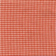 Orange Mini-Check Tea Towel
