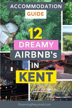 Save these jaw-dropping and incredibly unique holiday cottages to your UK travel wish-list.   A curated selection of a dozen unique properties on Airbnb in Kent. From charming historic buildings, to Dutch barge boats, to treehouses. It's your guide to Airbnb's in Kent.  Included in the post is a Discount Code for new Airbnb users.  #Kent #Airbnb #Staycation #UK #wheretostay #travel #discount #England #staycation #iRoamToo #RoamingRequired Travel Guides, Travel Tips, Travel Articles, Travel Abroad, Travel Advice, Travel Destinations, Scotland Travel, Ireland Travel, Dover Castle