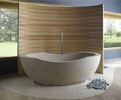 wooden wall detail....foyer...living room, master bath or bedroom  Spa feeling