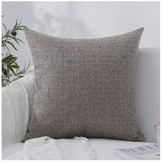Best Friend Gift Idea 18 x 18 Inch Winter Holiday Rustic Farmhouse Linen Cushion Case for Sofa Couch Friends TV Show Inspired Pillow Case Ill Be There For You Pillow Cover Pillow Case