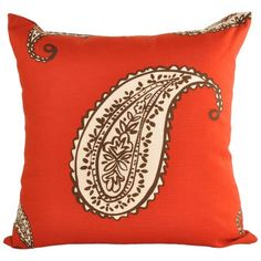 I pinned this Paisley Pillow in Cherry from the Baxter Designs event at Joss and Main!