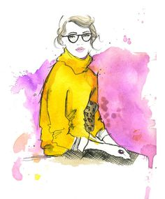 Watercolor Fashion Illustration  The Pretty by JessicaIllustration