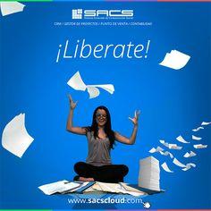 ¡Olvídate de los papeles! #SACS simplifica tu vida...  #CRM #GestordeProyectos #PuntodeVenta #Contabilidad