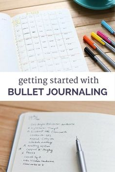 My first week with the bullet journal, plus tips for getting started yourself.