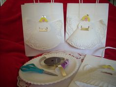 Paper Plate Angel Gift Bags