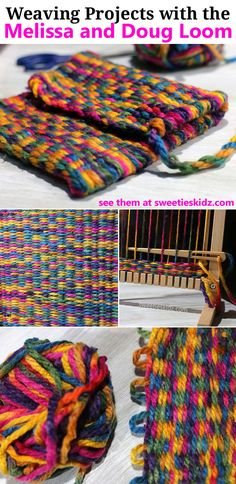 Simple Weaving Projects with Yarn for Kids using the Melissa and Doug Weaving Loom @MelissaandDoug