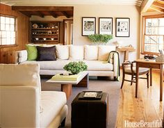 A light-filled Beverly Hills family room with spectacular views. Design: Chantal Dussouchaud.