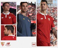 Le Nouveau maillot Sevilla Exterieur 2016/2017 présente un design épuré en rouge et blanc. Basé sur le même modèle que le Maillot Sevilla Domicile.